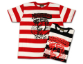 """GRC-253 半袖ボーダーTシャツ""""HELL GREASERS"""""""