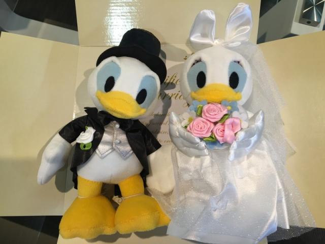 ラッピングバルーン♪ドナルド&デイジーの結婚・ウェディング洋装