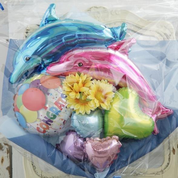 バルーンブーケ♪子供の発表会お誕生日はイルカブーケで決まり♪