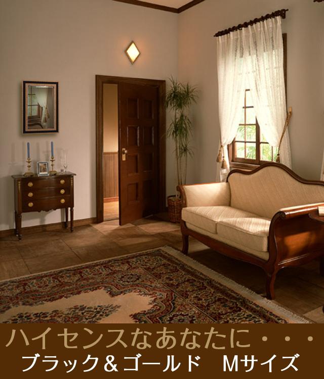 インテリア壁掛け仏壇「鏡壇ミラリエ」ブラックアンドゴールド