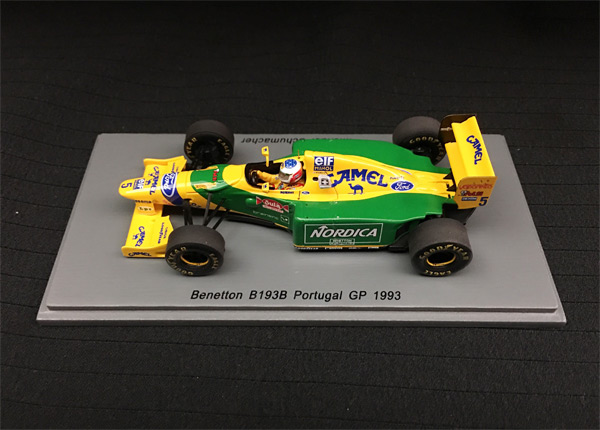 スパーク 1/43 ベネトン B193B  M.シューマッハ 1993年ポルトガルGP優勝 No.5 当店オリジナルタバコロゴモデル
