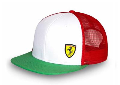 フェラーリ  SF トリコロールフラットキャップ
