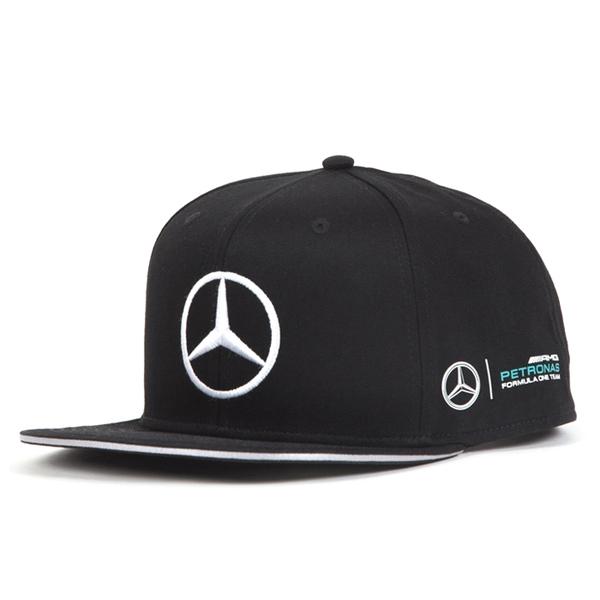 2017 メルセデスベンツAMGペトロナスF1チーム L.ハミルトン ドライバーズ FLATキャップ ブラック