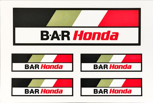 BAR ホンダ F1 レーシング 2005 プロモーションステッカーセット サイズ:10×14.5cm