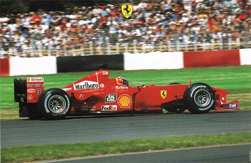 フェラーリ 2000 シューマッハ マシンカード
