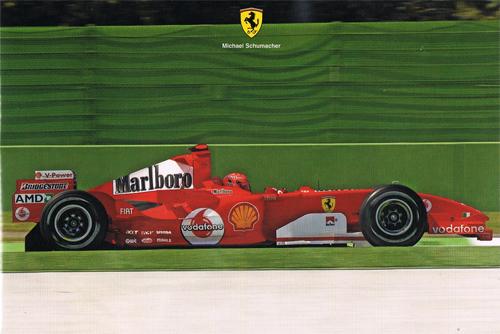 フェラーリ 2005 シューマッハ マシンカード