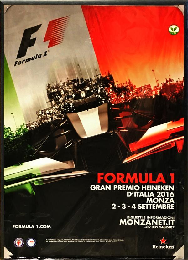2016年F1イタリアGP公式ポスター(額装品)
