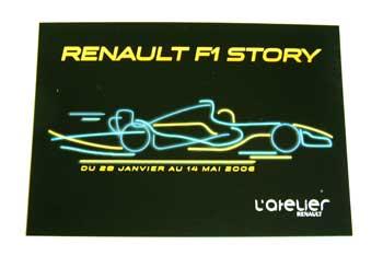 ルノーF1 コンストラクターズチャンピオン展 記念葉書 (RENAULT F1 STORY)