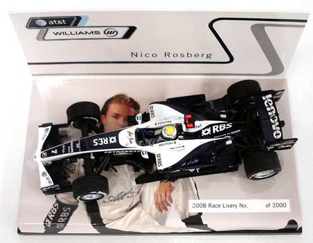 ミニチャンプス 1/43 ウィリアムズ別注 2008ショーカー ニコ・ロズベルグ  限定ハイボックス仕様 シリアルナンバー入