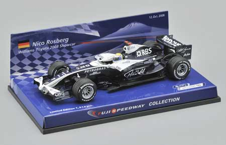 ミニチャンプス 1/43 ウィリアムズ2008ショーカー ロズベルグ 富士スピードウェイコレクション特別限定パッケージ 1512台