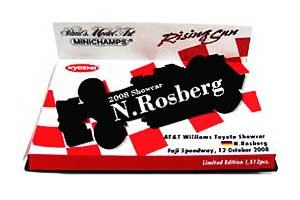 1/43 京商別注 ウィリアムズ 2008 ショーカー  ロズベルグ ライジングサン台紙