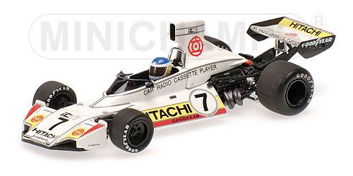 """ミニチャンプス 1/43 ブラバム フォード BT44 """"HITACHI"""" C.ロイテマン 1974年ベルギーGP"""