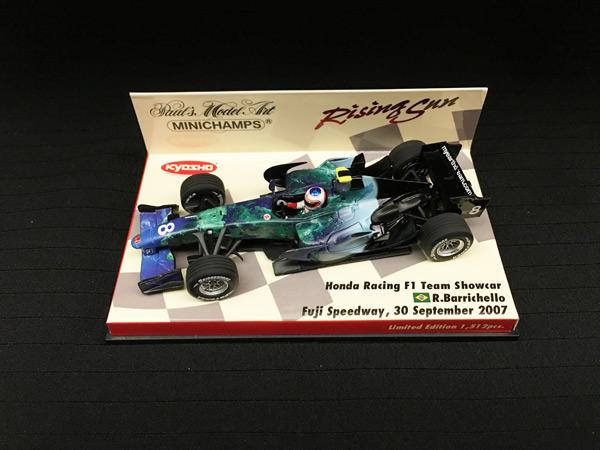 ミニチャンプス 1/43 ホンダ HONDA F1 2007ショーカー R.バリチェロ 限定ライジングサン台紙