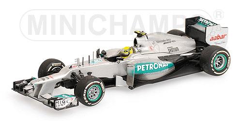 ミニチャンプス 1/43メルセデス W03 N.ロズベルグ 2012年中国GP1stWin