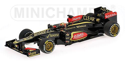 ミニチャンプス 1/43 ロータス F1 チーム ルノー E21 K.ライコネン 2013 オーストラリアGP   ウィナー