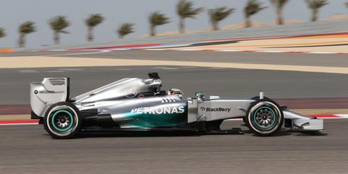 ミニチャンプス 1/43 メルセデス W05 L.ハミルトン 2014年バーレーンGP 優勝