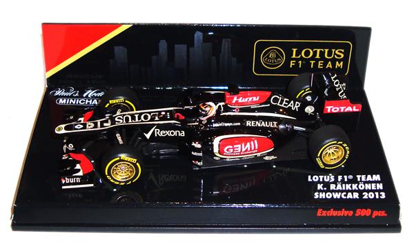 ミニチャンプス 1/43 ロータスF1 チーム 2013 ショーカー K.ライコネン シンガポールGPパッケージ 限定500台