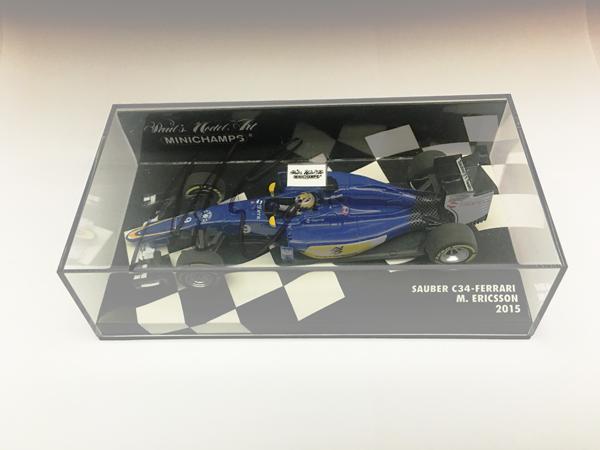 M.エリクソン 直筆サイン入 ミニチャンプス 1/43 ザウバー F1チーム フェラーリ C34 M.エリクソン 2015(レジン製)