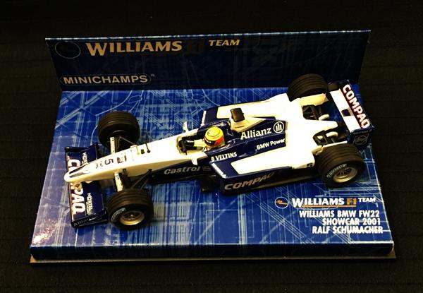ミニチャンプス 1/43 ウィリアムズ 2001ショーカー R.シューマッハ