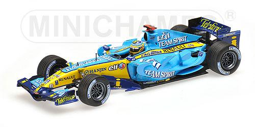 ミニチャンプス 1/43 ルノー F1 R26 F.アロンソ 2006年ワールドチャンピオンボックス