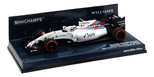 海外別注 ミニチャンプス 1/43 ウィリアムズ FW37 S.ウォルフ 2015年イギリスGPフリー走行 限定300台