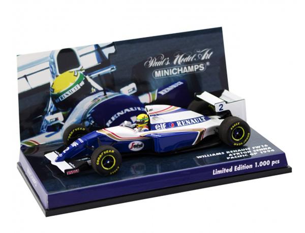 MBA別注 ミニチャンプス 1/43 ウィリアムズ FW16 A.セナ 1994年パシフィックGP