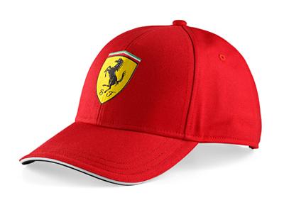 フェラーリ クラシック ロゴ キャップ レッド