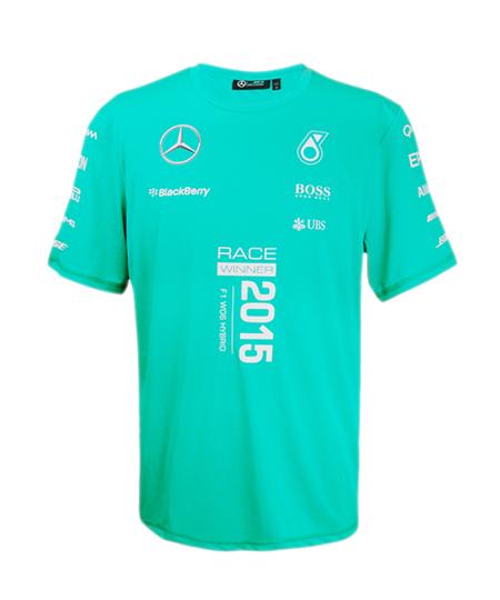 2015 メルセデスベンツAMGペトロナスF1チームWinnerTシャツ(勝ちT)