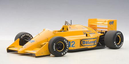 オートアート 1/18 ロータス 99T ホンダ  A.セナ 1987年日本GP NO.12 ロータスロゴ無 コンポジットモデル