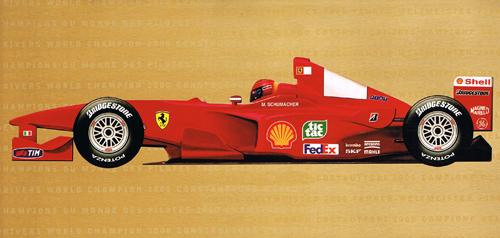 フェラーリ 2000 グリーティングカード(封筒付)