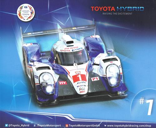 2015 WEC TOYOTA TS040 チームカード NO1