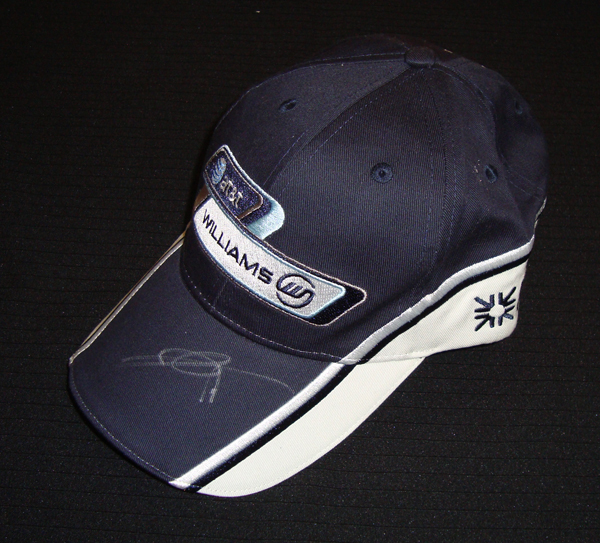 2009年 ウィリアムズ 中嶋一貴 直筆サイン入 本人用 支給品キャップ