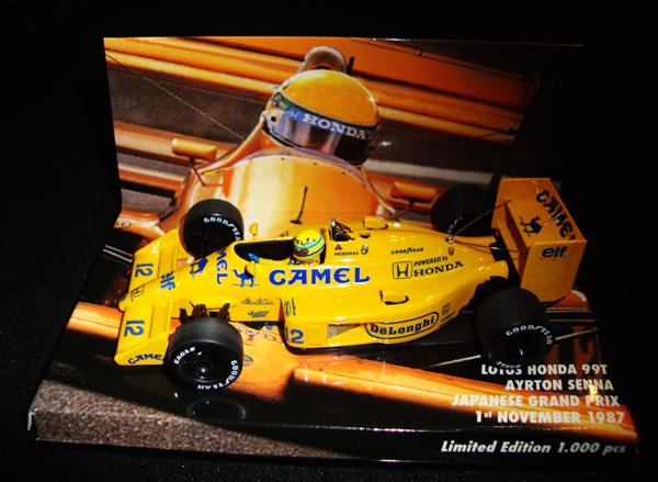 MBA別注 1/43 ロータス・ホンダ 99TA.セナ 1987年日本GP No.12 当店オリジナルタバコモデル