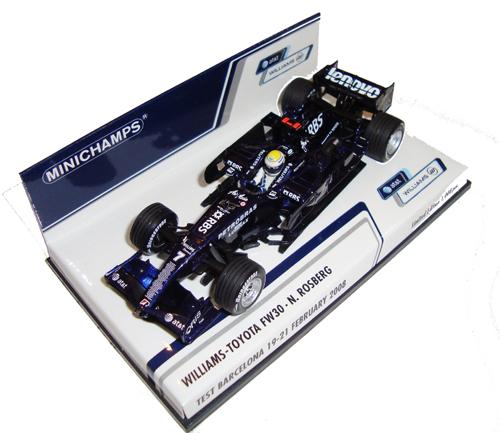 1/43 AT&T ウィリアムズ トヨタ FW30 N.ロズベルグ バルセロナテスト2008年2月19~21日