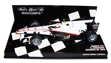 ミニチャンプス 1/43 ザウバーC29 小林可夢偉 2010年日本GP NO.23