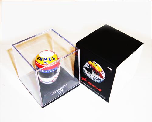 F1ショップ グランプリ別注 スパーク 1/8   中嶋 悟ヘルメットコレクション 第2弾 1988年仕様