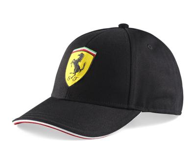 フェラーリ クラシック ロゴ キャップ ブラック