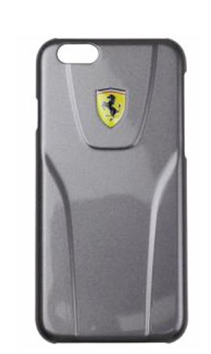 """フェラーリiPhone6/6S(4.7inch)カバー  """"Ferrari Fiorano Metalic 3D Hard Case Silver Metallic """""""