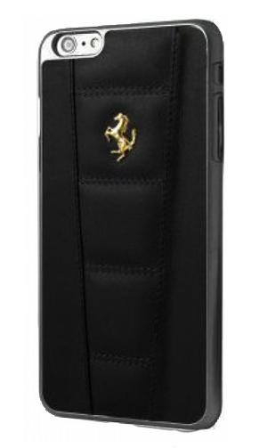 """フェラーリiPhone6/6SPlus(5.5inch)カバー """"Ferrari 458 Leather Hard Case Black  """""""