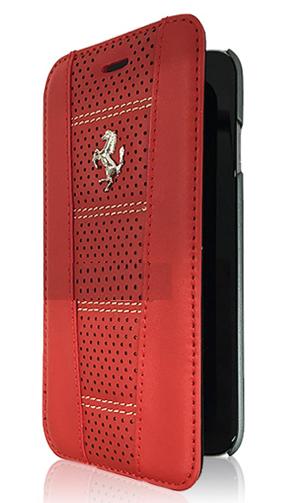 """フェラーリiPhone6/6S(4.7inch)カバー  """"458 - Perforated Red Leather Booktype Case """""""