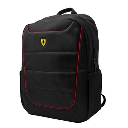 フェラーリ 15インチ ノートパソコン収納ポケット付き バッグパック ブラック