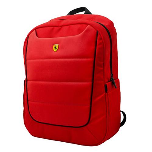 フェラーリ 15インチ ノートパソコン収納ポケット付き バッグパック レッド