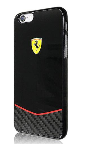 """フェラーリiPhone6/6S(4.7inch)カバー  """"Ferrari REAL CARBON FIBER Case  TypeA Black """""""