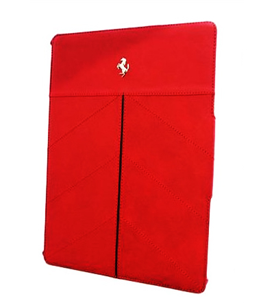 "【SALE】フェラーリiPad(iPad Air 非対応)ケース ""Ferrari Genuine Leather Tablet Folio Case Red"""