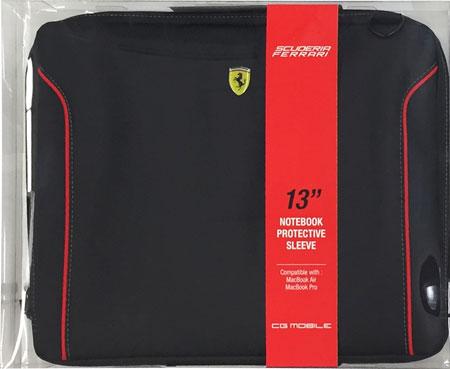 """フェラーリ13インチ ノートPC用ショルダーバッグ  """"Ferrari Fiorano Computer  Case  Black """""""
