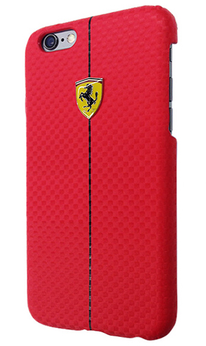 "フェラーリiPhone6/6SPlus(5.5inch)カバー ""Formula One Carbon Hard Case Red """