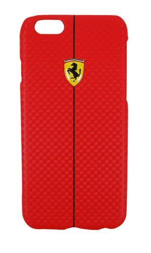 "フェラーリiPhone6/6S(4.7inch)カバー ""Formula One Carbon Hard Case for iPhone6/6S Red """