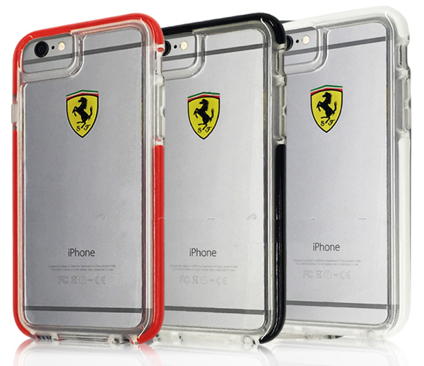 """フェラーリiPhone6/6S(4.7inch)カバー  """"Hard Case- Racing Shield - Transparent"""""""