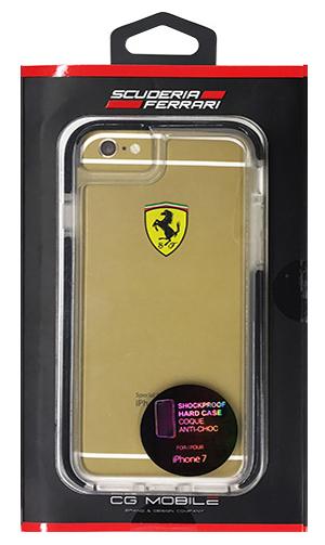 """フェラーリiPhone7 カバー """"Ferrari ShockProof Back Cover Clear Black"""""""