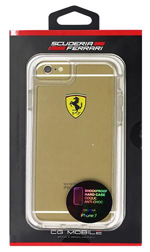 """フェラーリiPhone7 カバー """"Ferrari ShockProof Back Cover Clear White"""""""